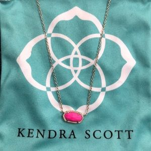Kendra Scott Elisa Necklace in bright pink